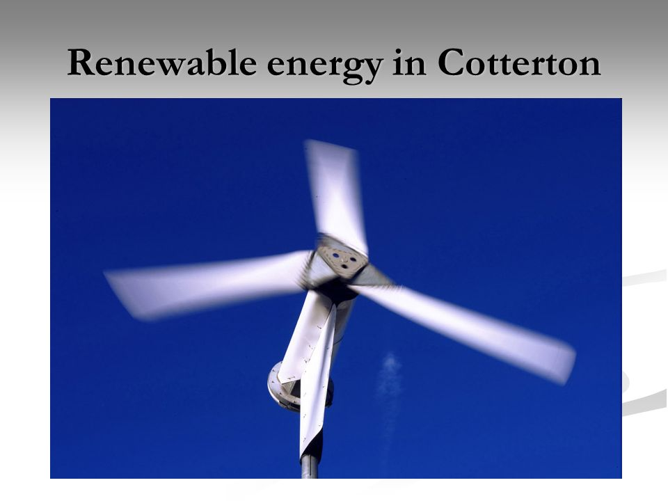Renewable energy in Cotterton