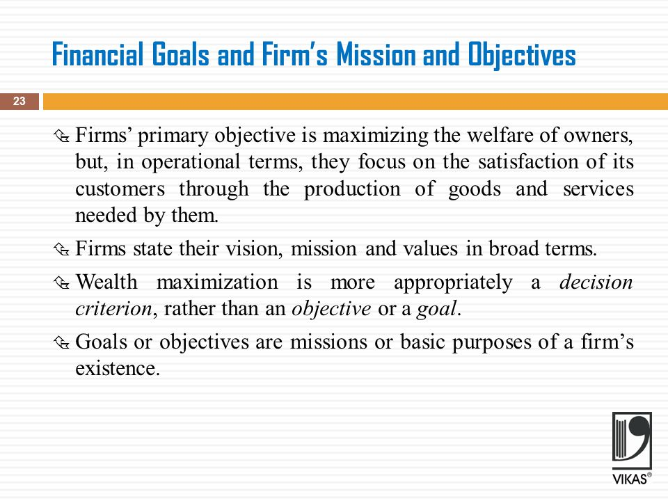goals and purpose of a firm