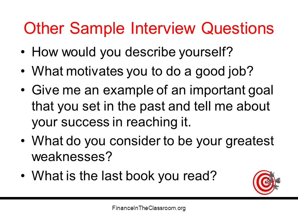 Interview Questions What Motivates You. Financeintheclassroom Org Practice Interview  Questions Ppt Download . Interview Questions What Motivates You