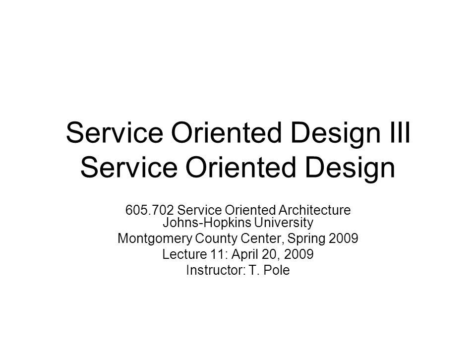 service oriented design iii service oriented design service, Presentation templates