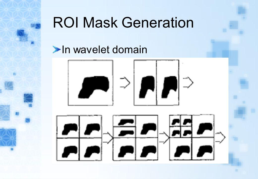 ROI Mask Generation In wavelet domain