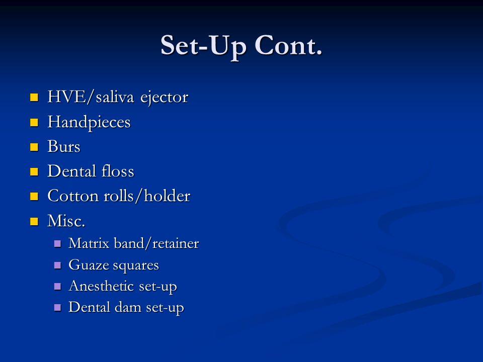 Set-Up Cont.