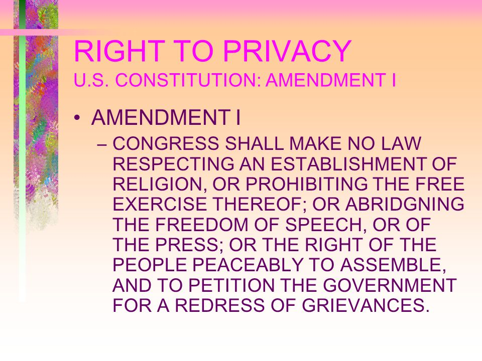 RIGHT TO PRIVACY U.S.