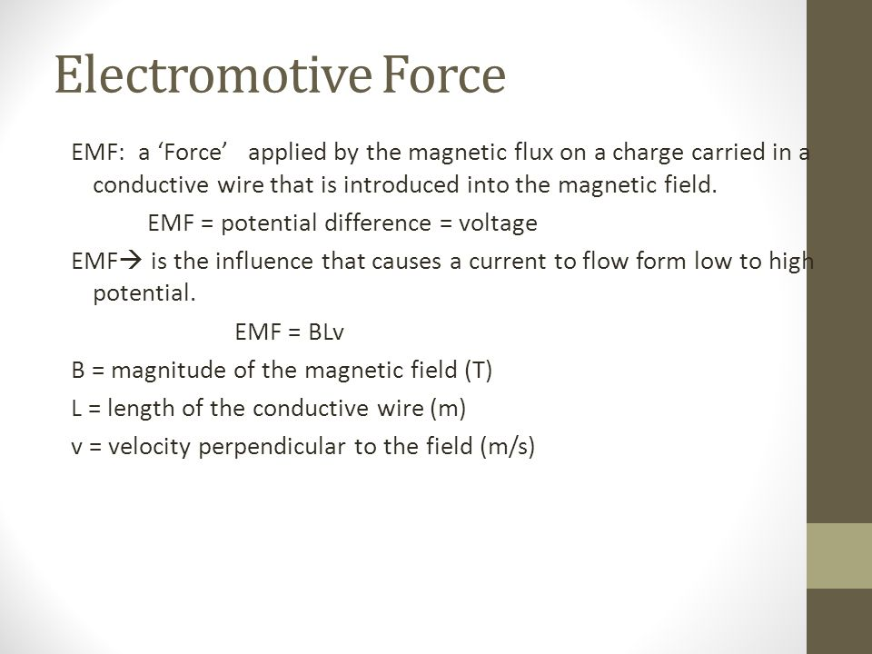 Modern What Causes Emf Pictures - Electrical Circuit Diagram Ideas ...