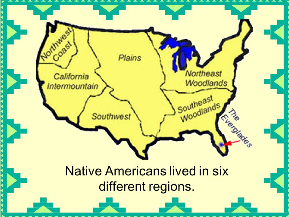 America Native Americans People who lived in America before