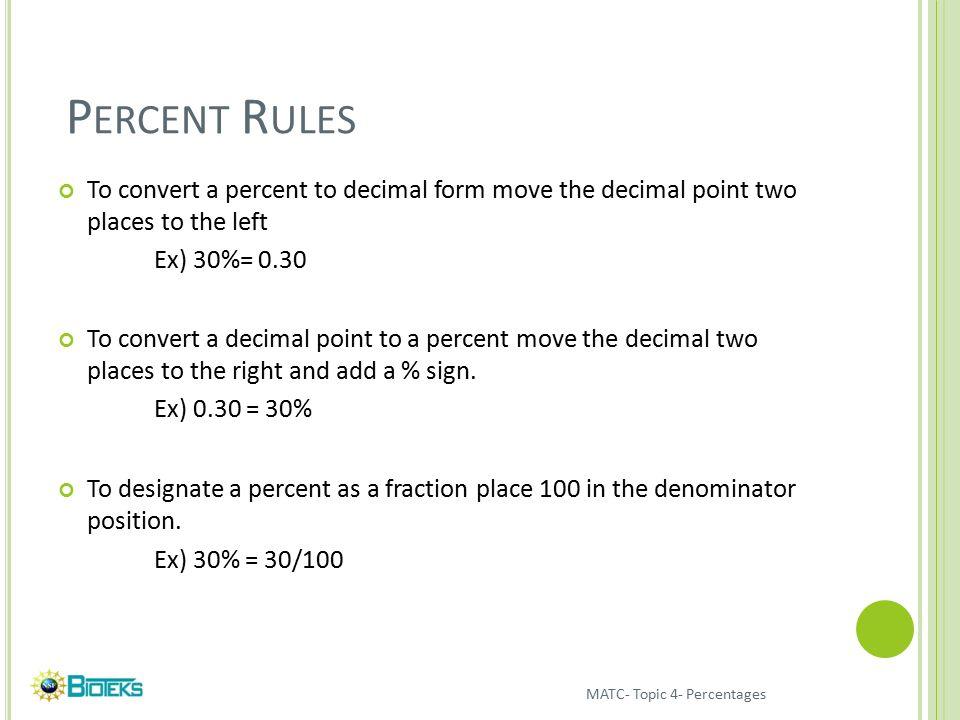 PERCENTS Basic percent manipulations Percent error. - ppt download