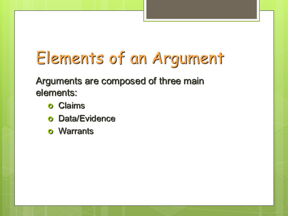 Persuasive Argument How do I write a claim, convincing evidence ...