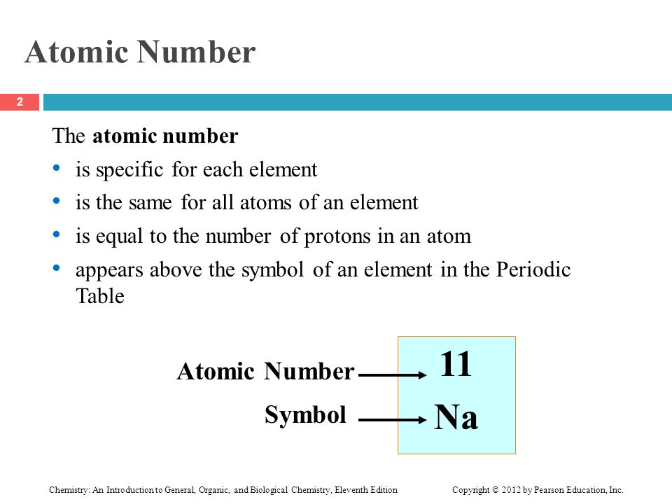 Chapter 3 Atoms And Elements 34 Atomic Number And Mass Number 1