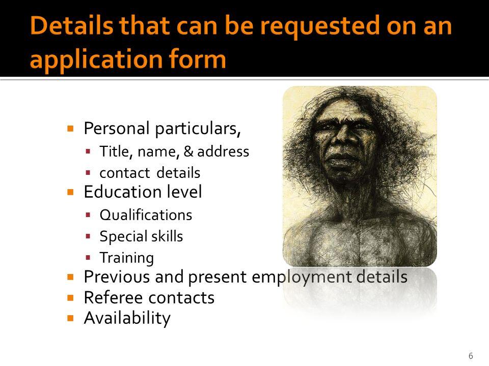 special skills qualifications job application