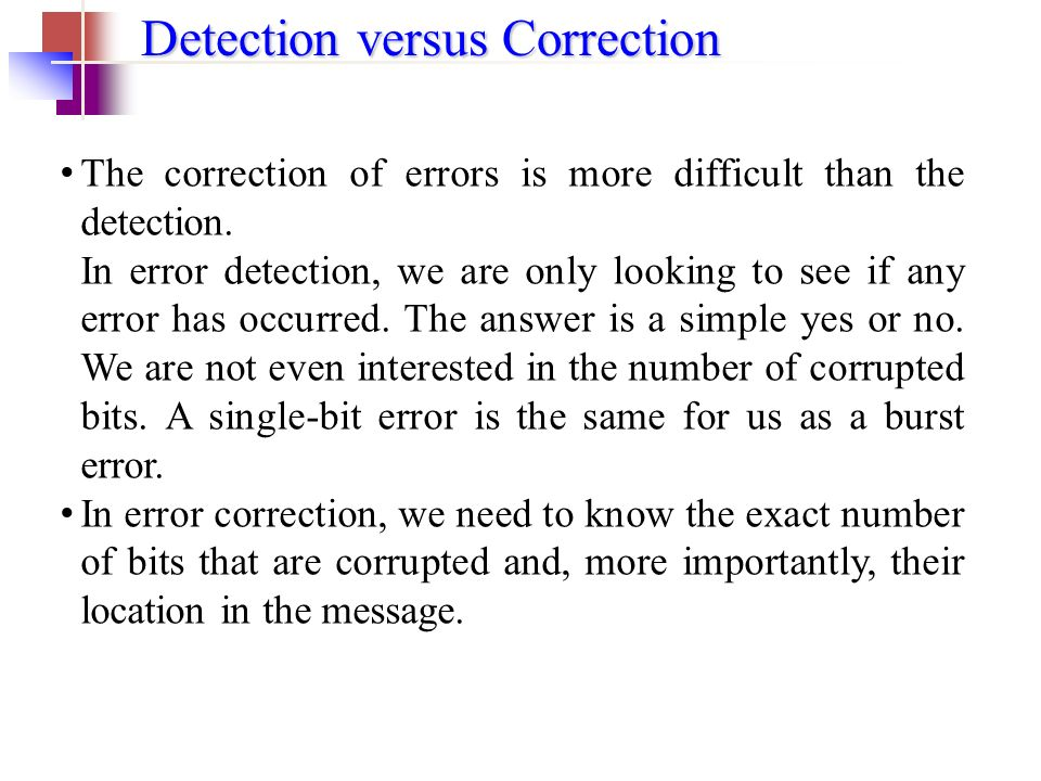 error detecting and error correcting codes pdf