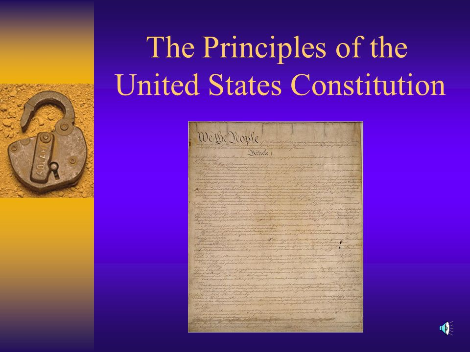 Constitutionalism  Government must be conducted according to constitutional principles.