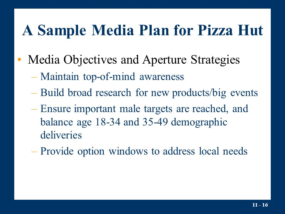 Media Planning and Buying Lecture Outline I.Media Planning and ...