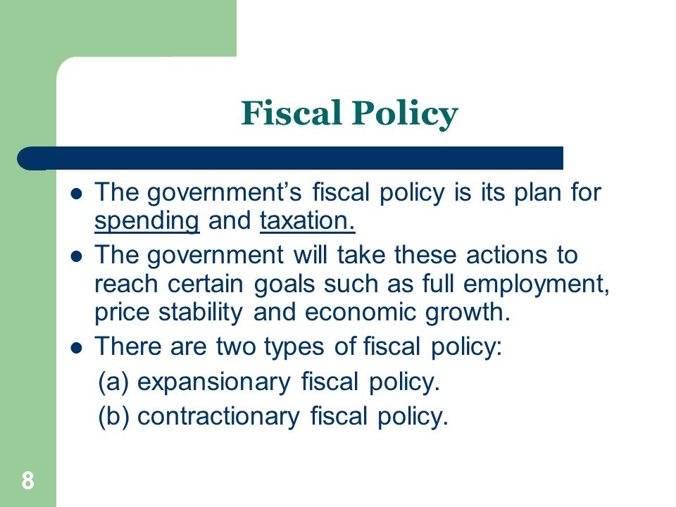 fiscal policy and government spending