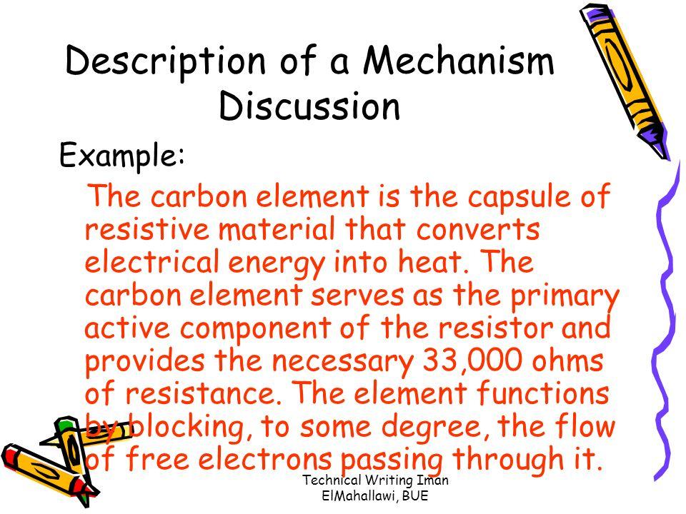 example description of mechanism