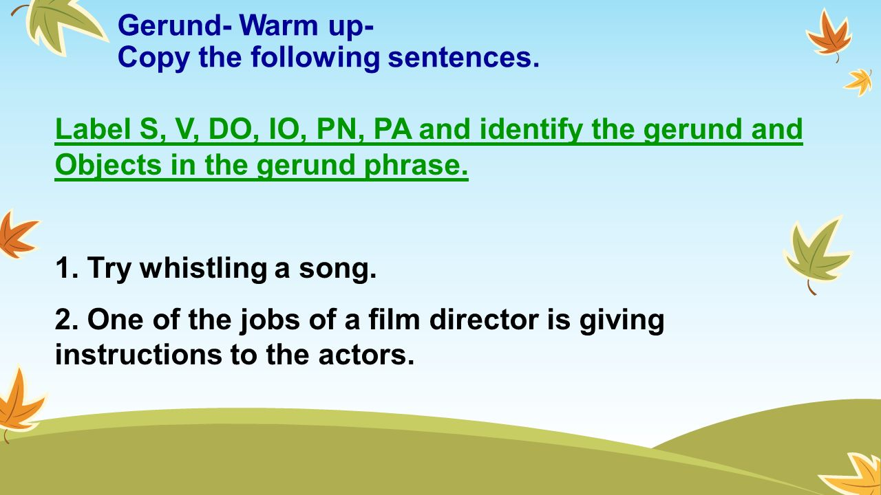 Worksheets Gerund Phrase Worksheet day 58 foundations rj intro and gerunds objectives 1 identify 3 gerund