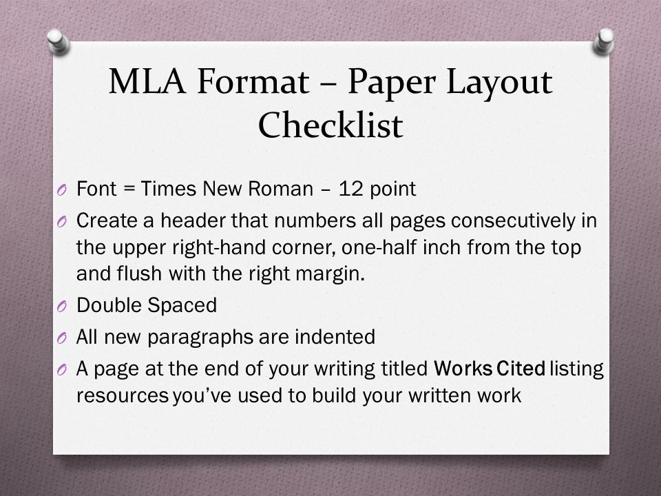 how to type a paper in mla format Essential information attachment 1-- mla format for writing mla format for writing mla (modern language association) format provides a very simple.