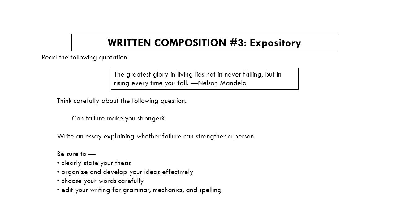 expository essays general information characteristics of an  15 written composition