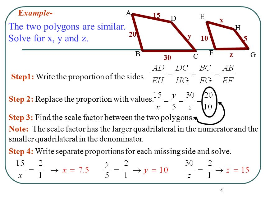 1 101612 Triangles Unit Similar Polygons 2 DefinitionTwo – Similar Polygons Worksheet