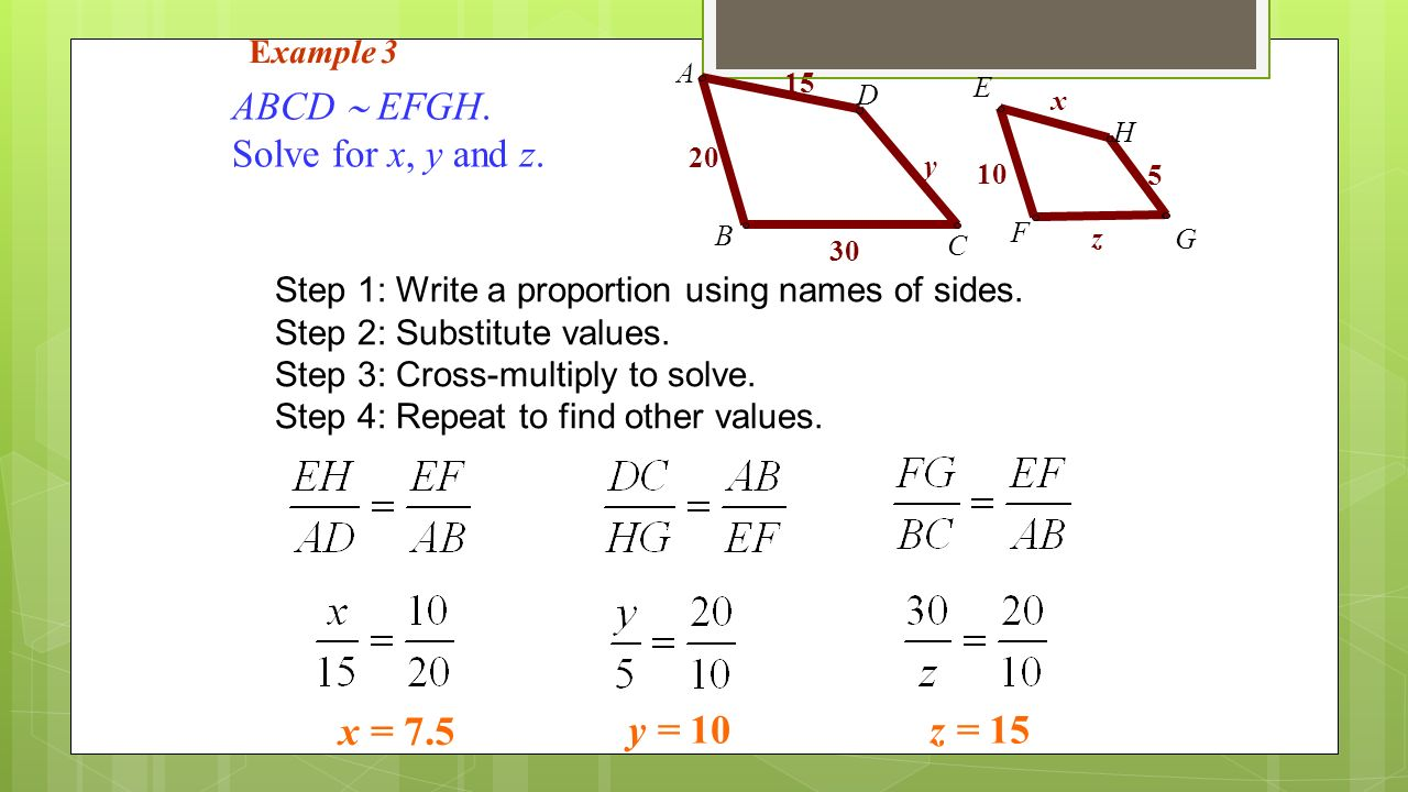 A ratio is a comparison of two numbers such as 4:5. When writing a ...