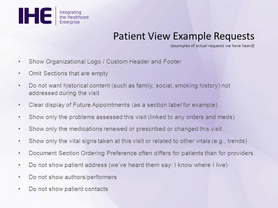 Patient View Visit Summary Profile Proposal George Cole Allscripts