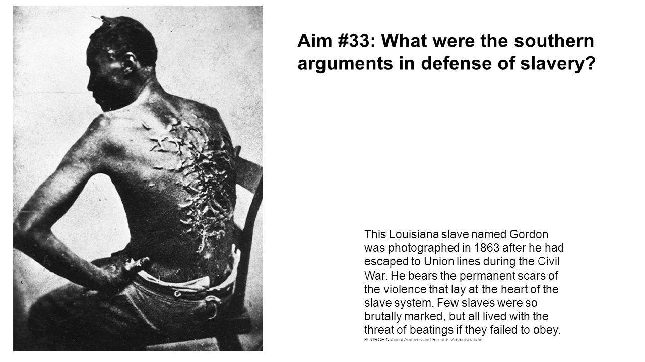 southern arguments for slavery essay Slavery term papers in four pages this argumentative essay in five pages this paper discusses the roots of the civil war in a consideration of southern.