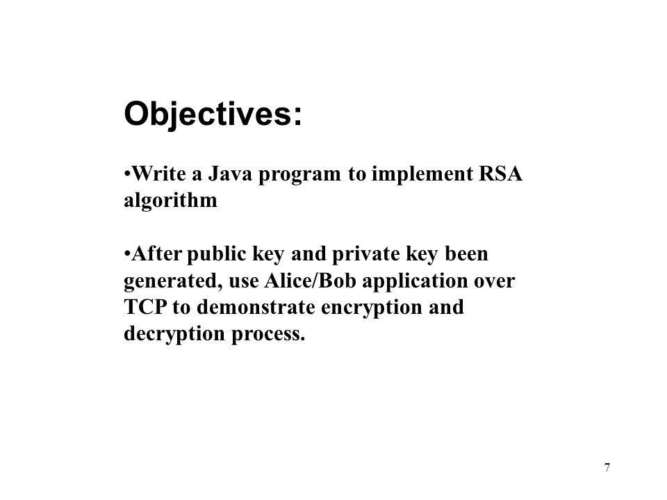Rsa Encryption Program In Java