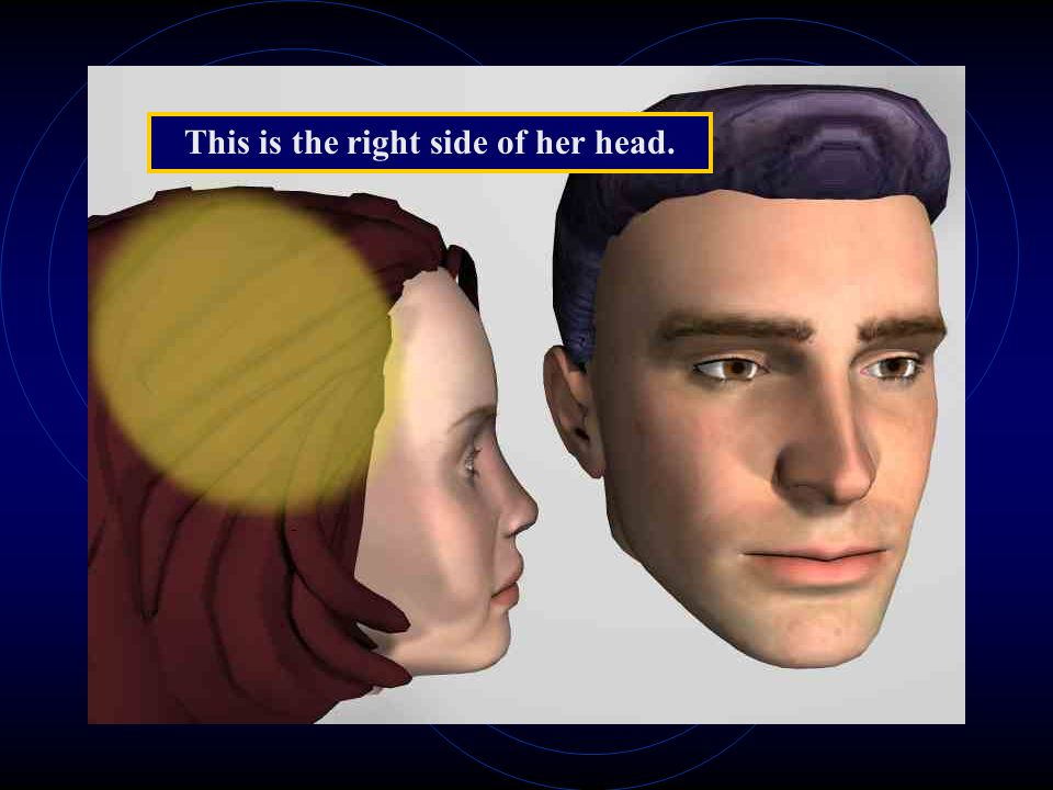 This is the right side of her head.