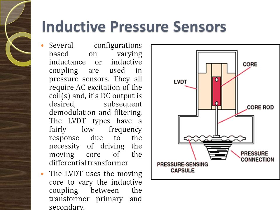 Potentiometric Pressure Sensors Potentiometric pressure sensors use a Bourdon tube, capsule, or bellows to drive a wiper arm on a resistive element.