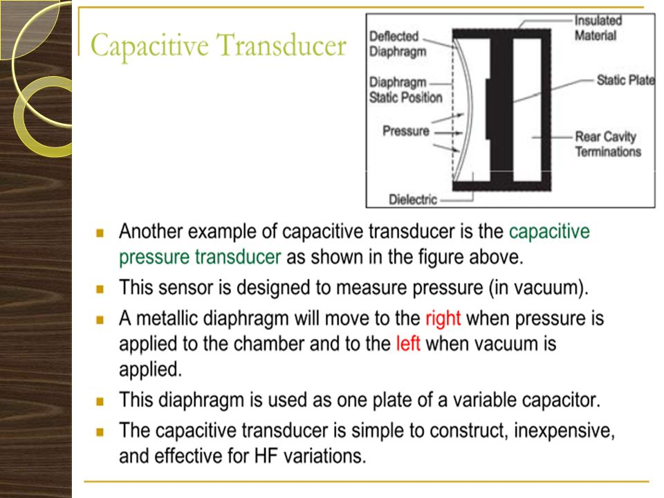 Thin diaphragm: A transducer that varies the spacing between surfaces.
