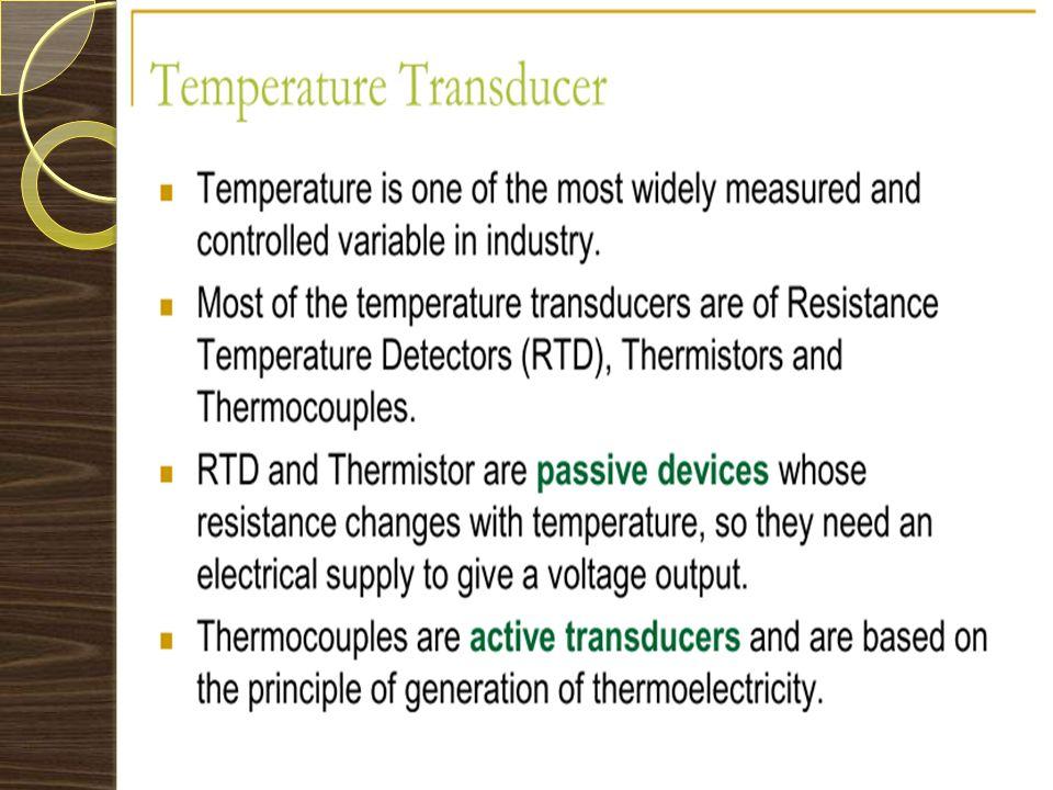 TEMPERATURE TRANSDUCER
