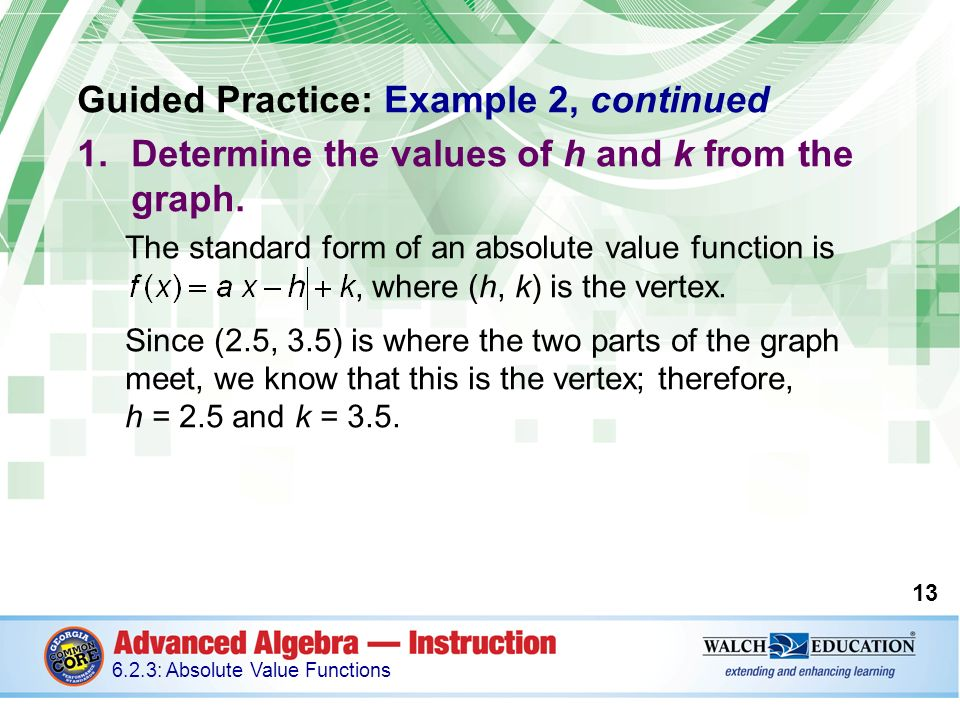 Introduction Absolute value functions can be used to model ...