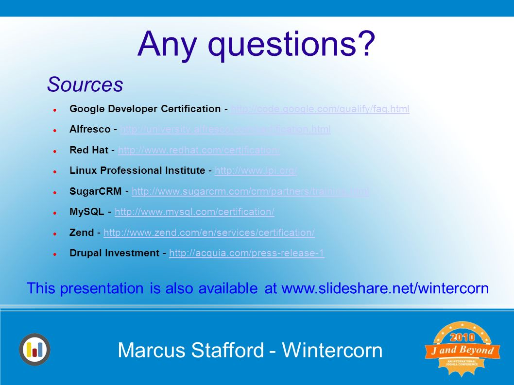 Marcus stafford wintercorn are you qualified the role of marcus stafford wintercorn google developer certification httpcodegoogle xflitez Images