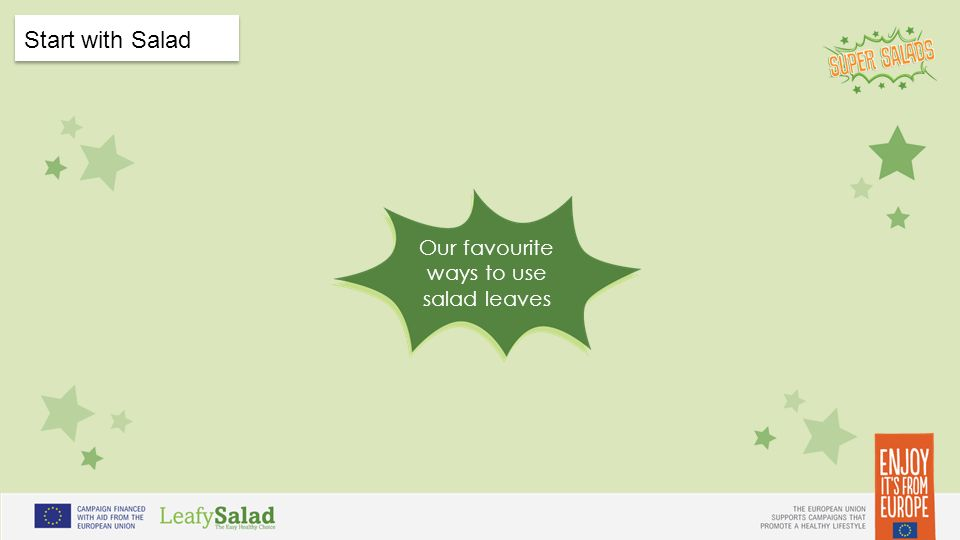 t t Start with Salad Our favourite ways to use salad leaves