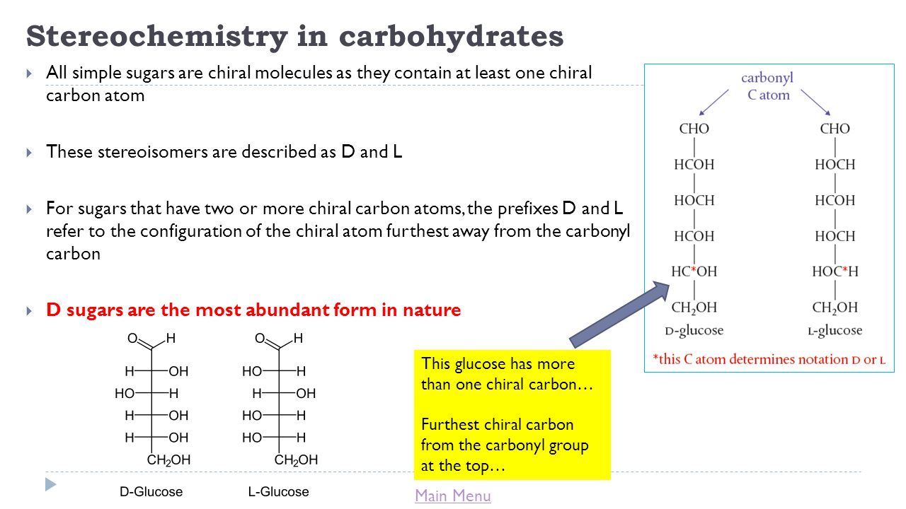 organic stereochemistry carbohydrates