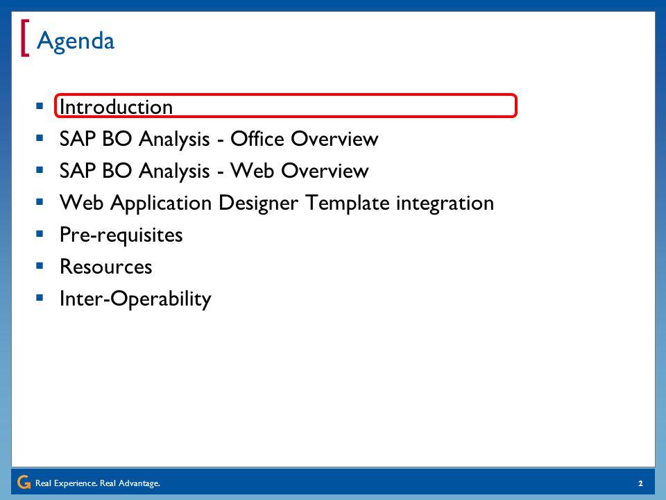 integration of web templates and options into sap bo (advanced, Presentation templates