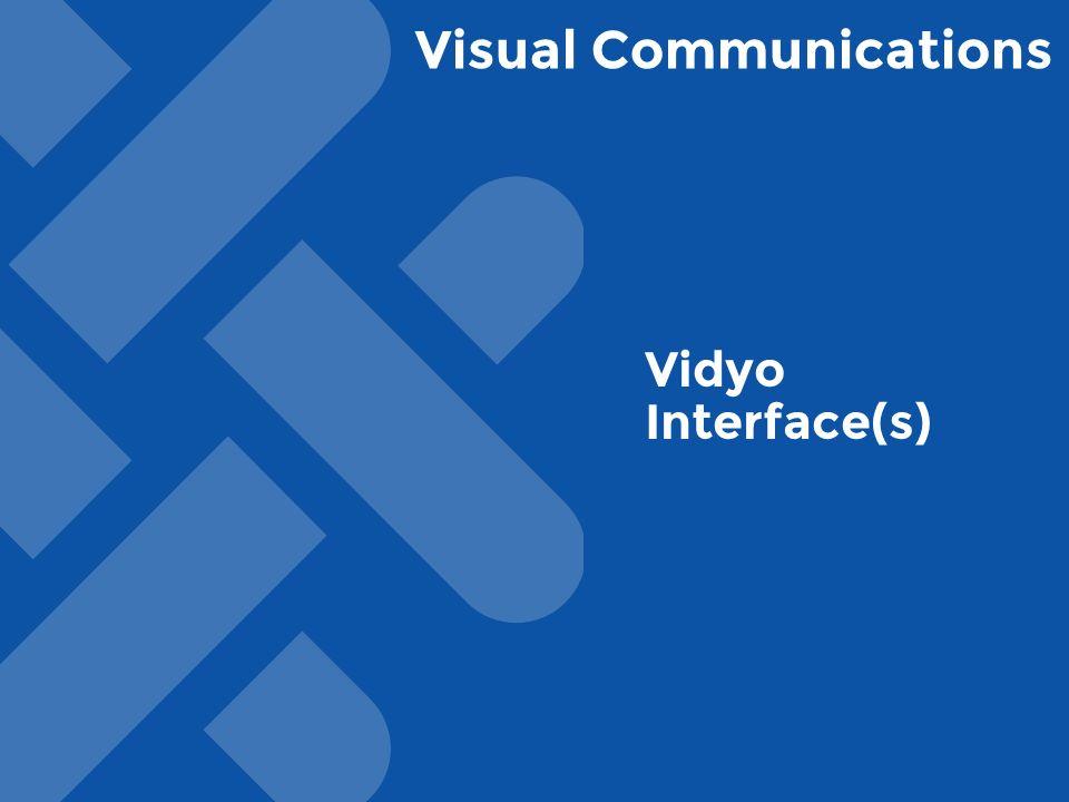 Visual Communications Vidyo Interface(s)