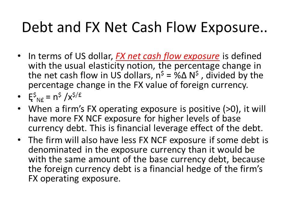 Debt and FX Net Cash Flow Exposure..