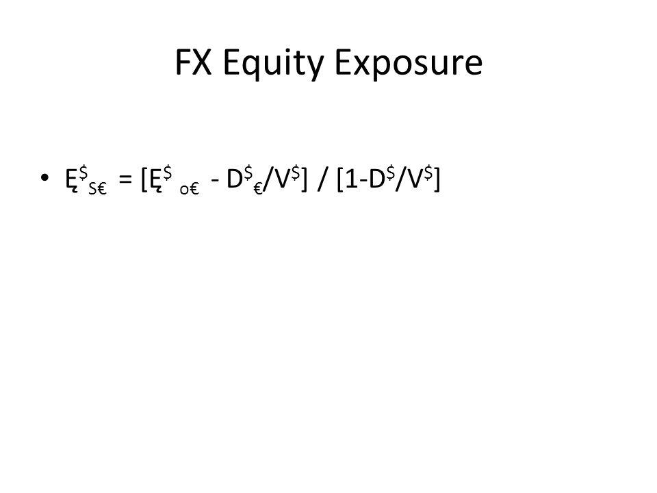FX Equity Exposure Ę $ S€ = [Ę $ o€ - D $ € /V $ ] / [1-D $ /V $ ]