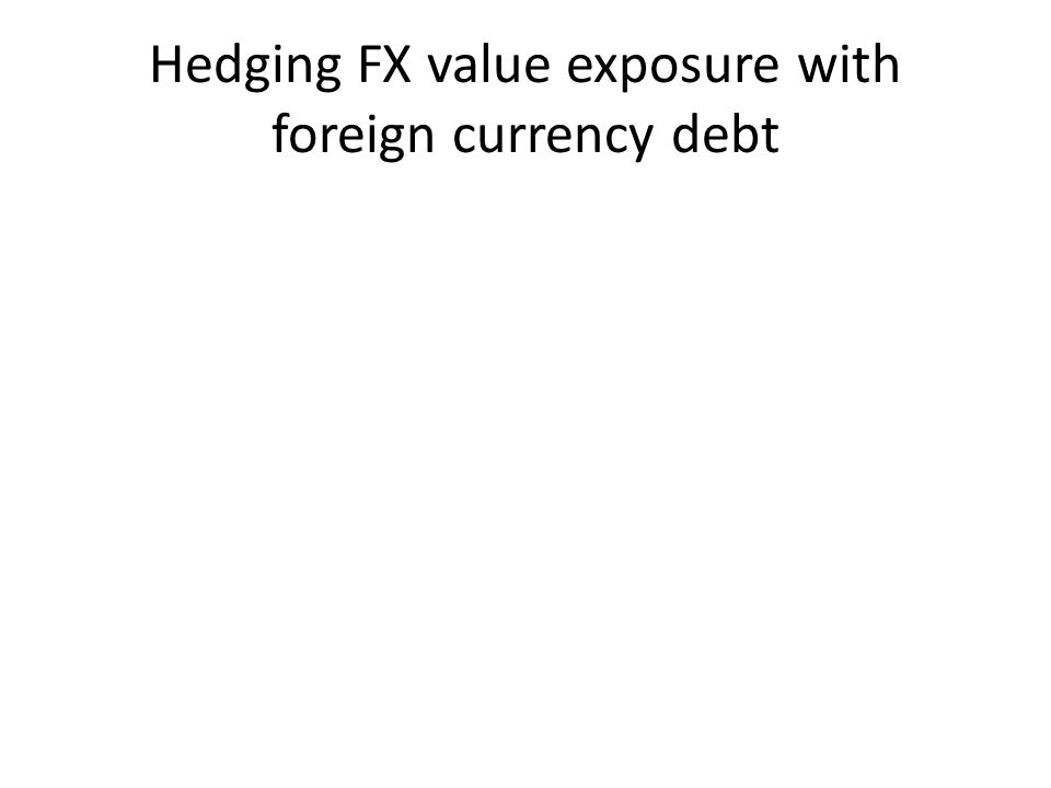 Hedging FX value exposure with foreign currency debt