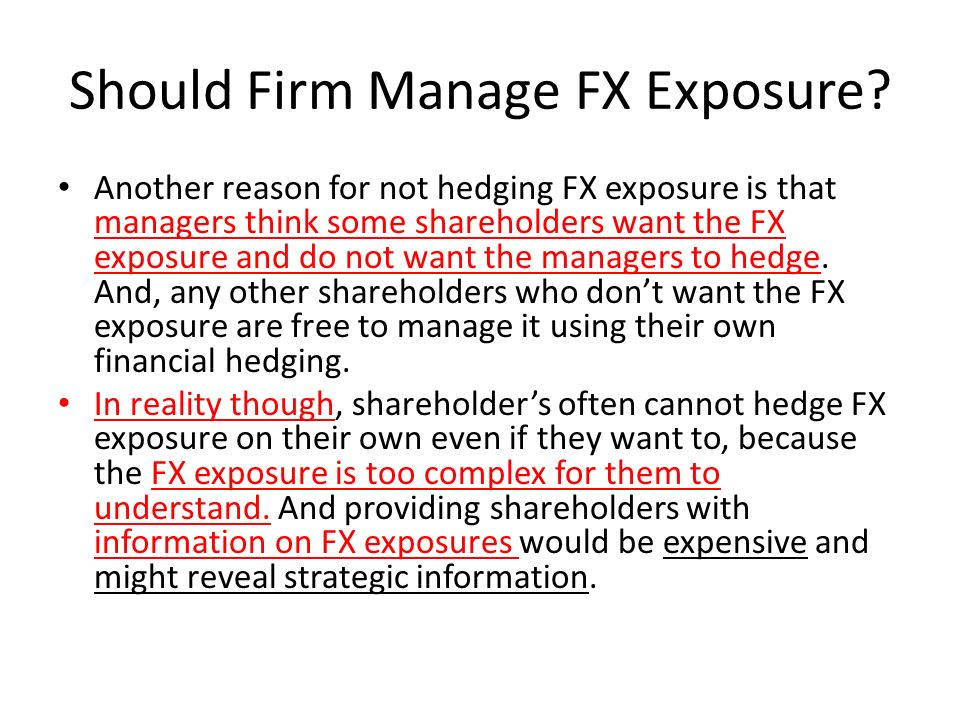 Should Firm Manage FX Exposure.