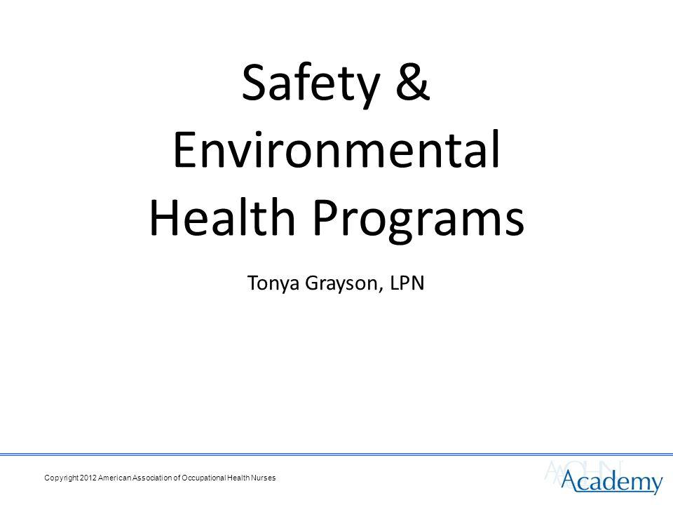 Tonya Grayson, LPN Safety & Environmental Health Programs
