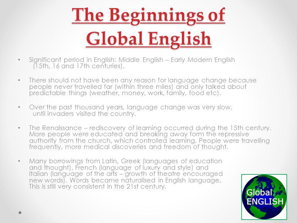 modern english language
