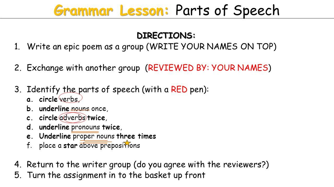 grammar lesson