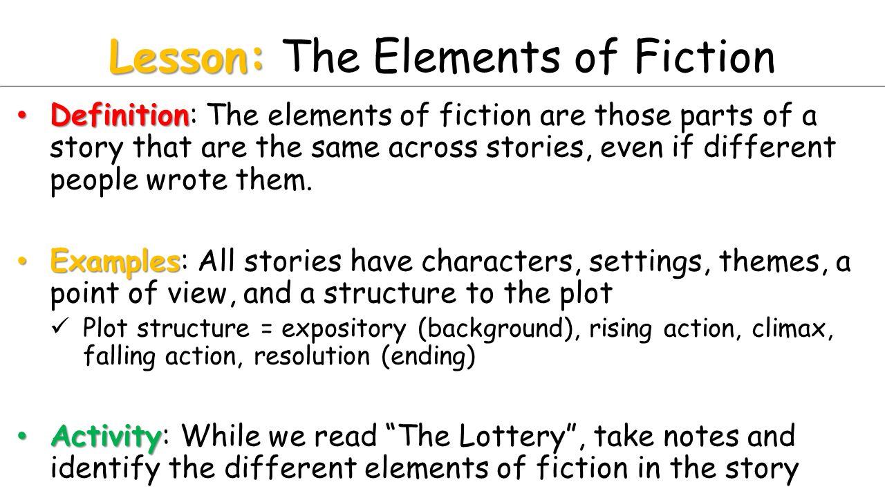 elements of plot definition