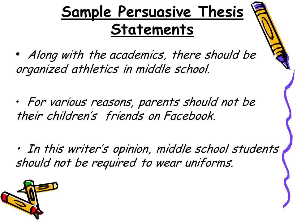 Thesis Statement Examples For Persuasive Essays