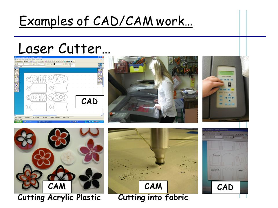 CAD CAM. 2 and 3 Dimensional CAD: Using 2-dimensional CAD software ...