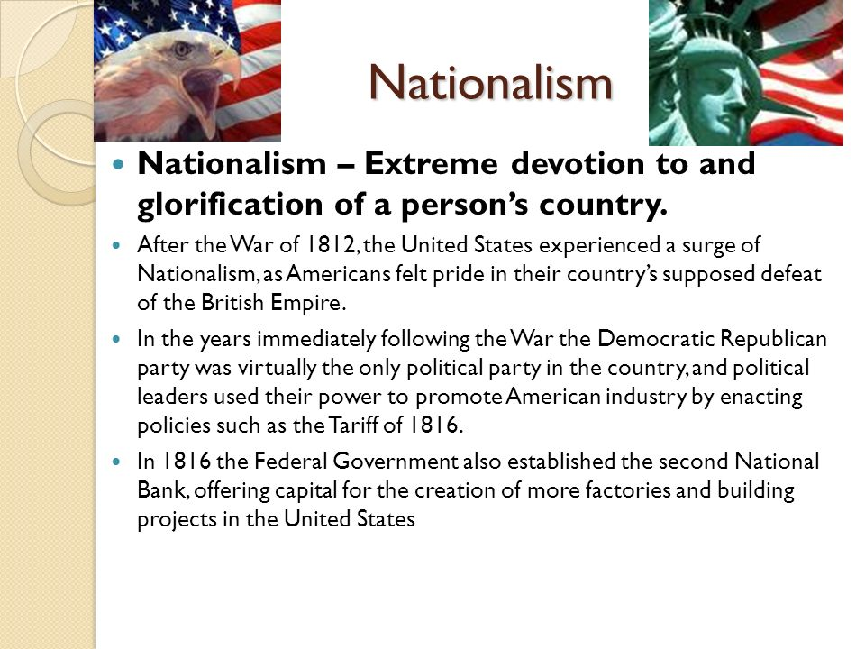 Nationalism, Sectionalism, Religion and Reform Unit #5 – US ...