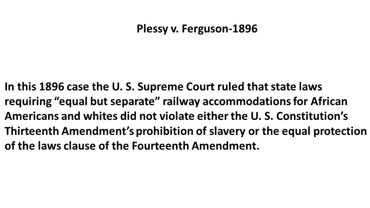 worksheet Plessy V Ferguson Worksheet schenck v united states 1919 in this case the court ruled that 3 plessy v