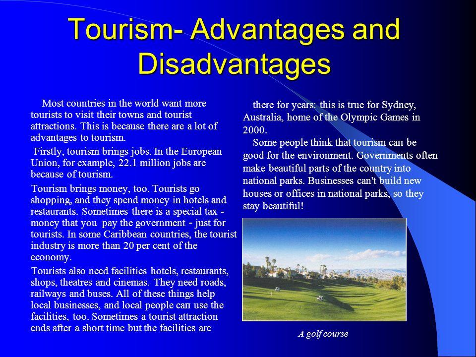 essay tourism advantages disadvantages