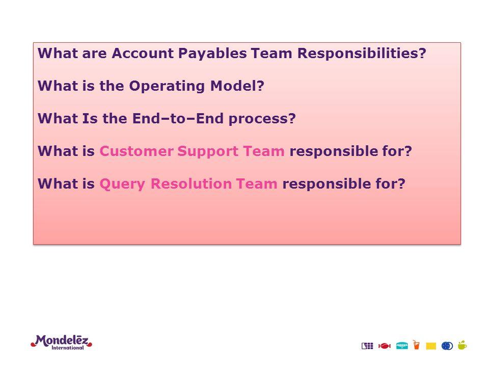 customer support responsibilities